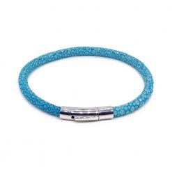 bracelet jonc galuchat turquoise mdg 1