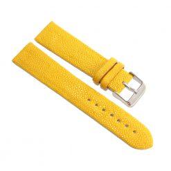 bracelet montre galuchat jaune citron