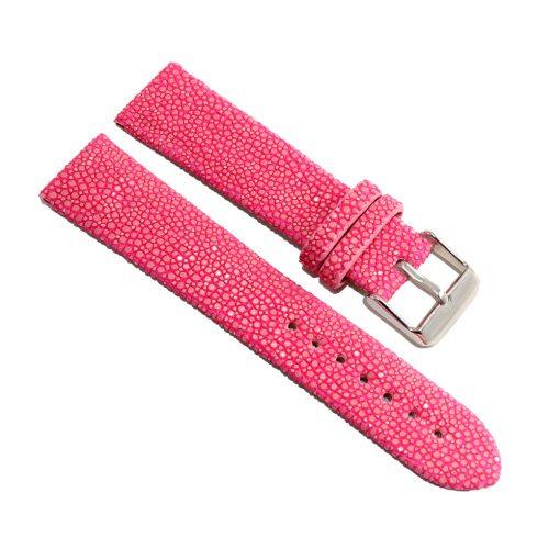 bracelet montre galuchat rose