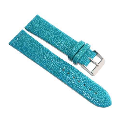 bracelet montre galuchat turquoise