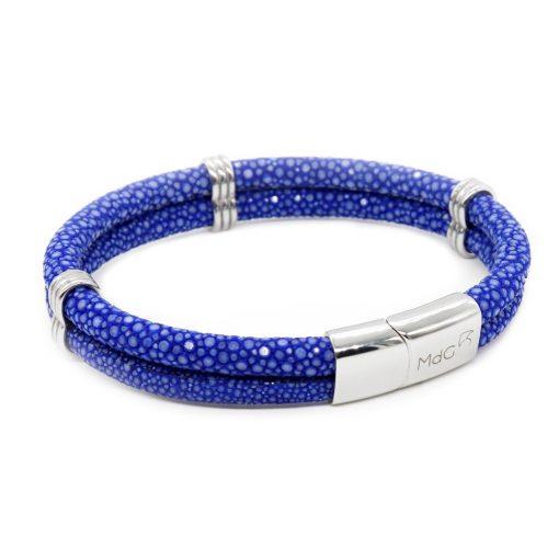 double bracelet jonc 5mm couleur bleu saphir 2 1