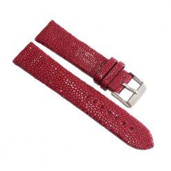 bracelet montre galuchat bordeaux