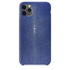 Coque iPhone 11 Pro bleu galuchat