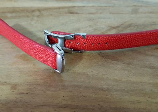 bracelet boucle depolyante galuchat 3