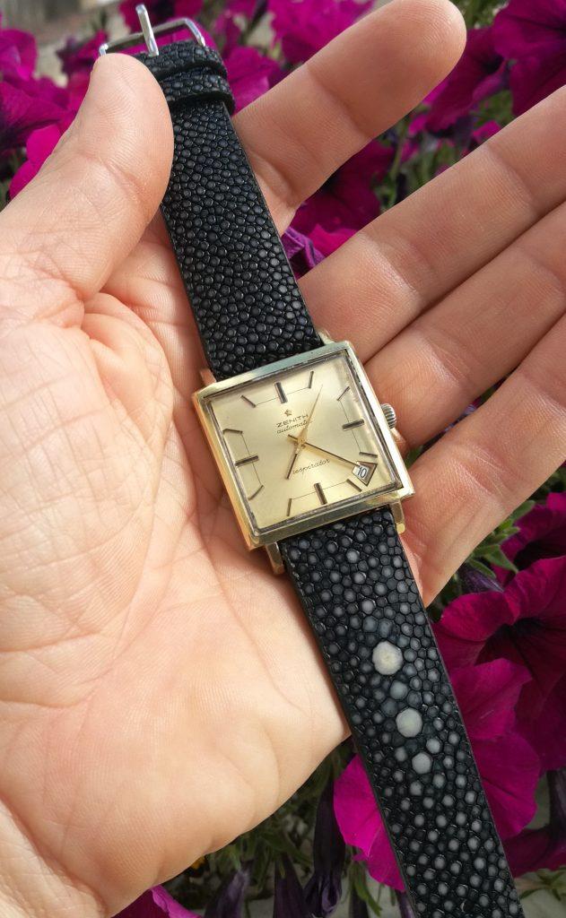 bracelet galuchat zenith respirator vintage