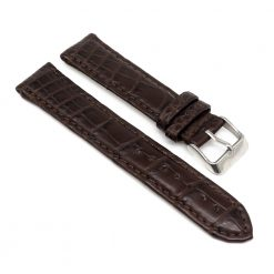 bracelet montre crocodile alligator marron chene