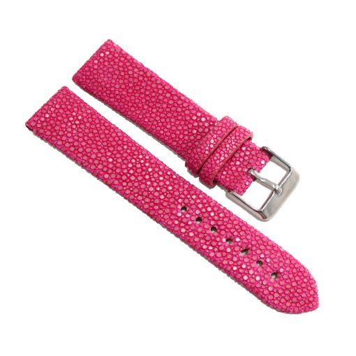 bracelet montre galuchat fuchsia