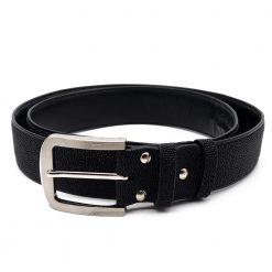 ceinture galuchat brut noir mdg 2