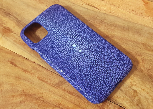 coque iphone 11 bleu saphir galuchat