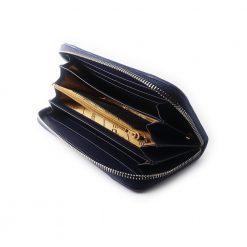 portefeuille long galuchat brut bleu 3