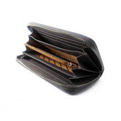 portefeuille long galuchat brut gris argent 2