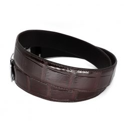 ceinture crocodile marron a bf3