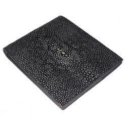 portefeuille galuchat mdg noir mat 1