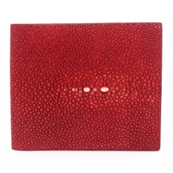 portefeuille galuchat signature rouge corail 2022 1