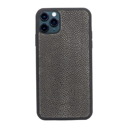Coque iPhone 11 Pro silicone galuchat grise