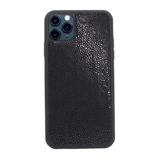 Coque iPhone 11 Pro silicone galuchat noir