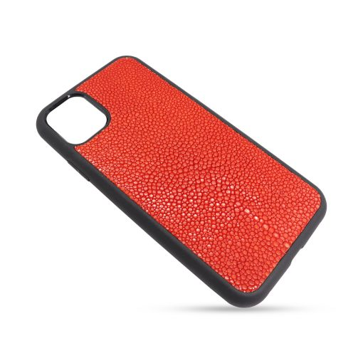 Coque iPhone 11 Pro silicone galuchat rouge 2