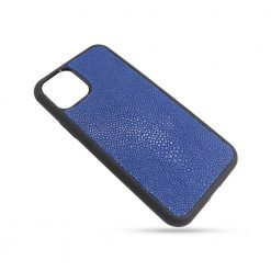 Coque iPhone 11 Pro silicone galuchat saphir 2
