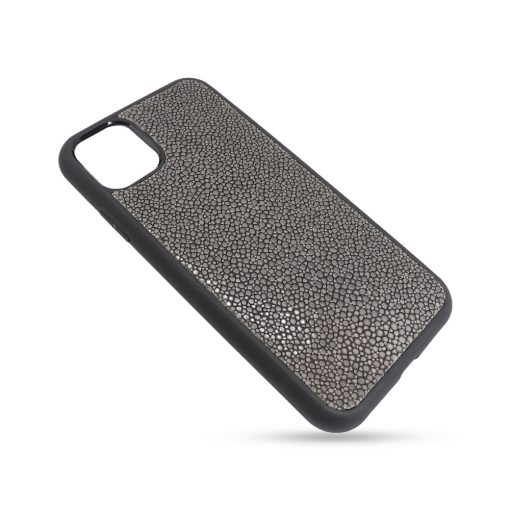 Coque iphone 11 silicone galuchat grise 2