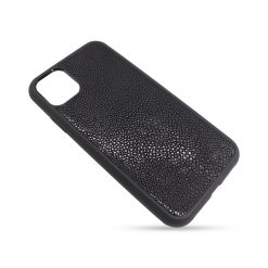 Coque iphone 11 silicone galuchat noir 2