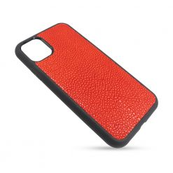 Coque iphone 11 silicone galuchat rouge 2