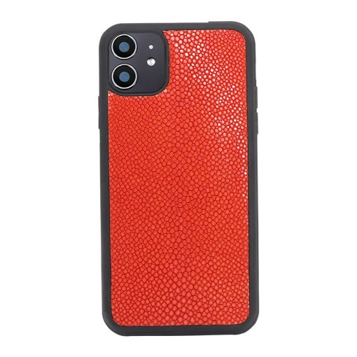 Coque iphone 11 silicone galuchat rouge