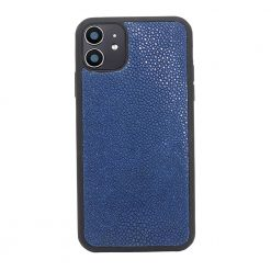 Coque iphone 11 silicone galuchat saphir