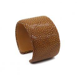 manchette galuchat 40mm couleur marron 2