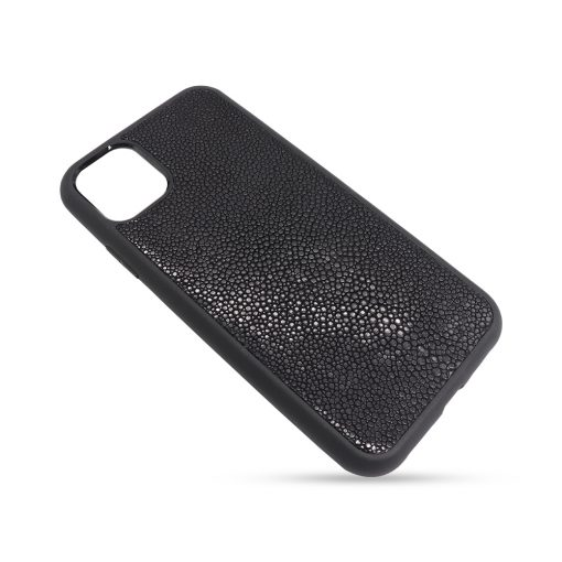 Coque iPhone 11 Pro silicone galuchat noir 2