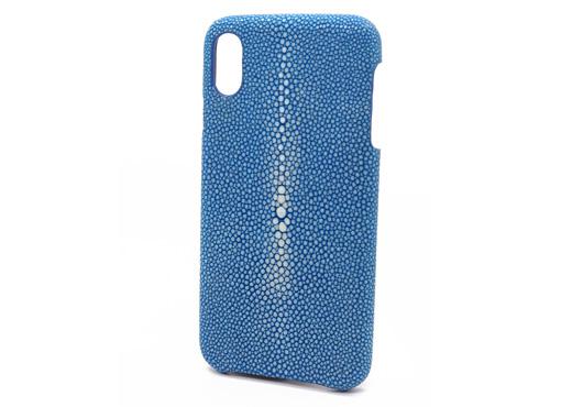 coque iphone x Plus galuchat turquoise mdg 2