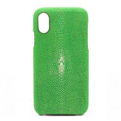 coque iphone x galuchat vert pomme