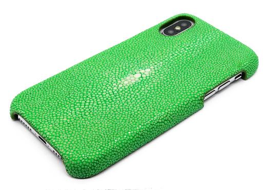 coque iphone x galuchat vert pomme mdg