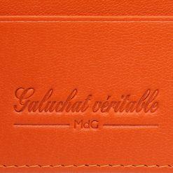 portefeuille galuchat signature mdg chocolat 2020 4