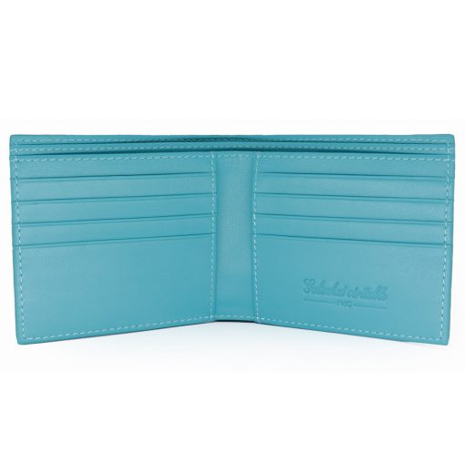 portefeuille galuchat signature mdg turquoise 2020 2