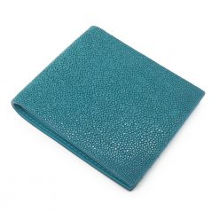 portefeuille galuchat signature mdg turquoise 2020 3