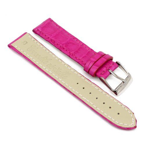 bracelet montre crocodile alligator fushia 2