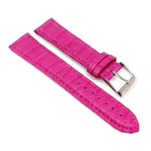 bracelet montre crocodile alligator fushia
