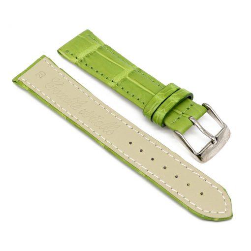 bracelet montre crocodile alligator lime 2