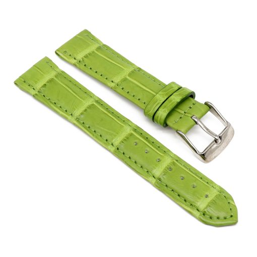 bracelet montre crocodile alligator lime