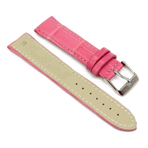 bracelet montre crocodile alligator rose 2