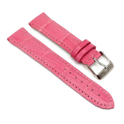 bracelet montre crocodile alligator rose