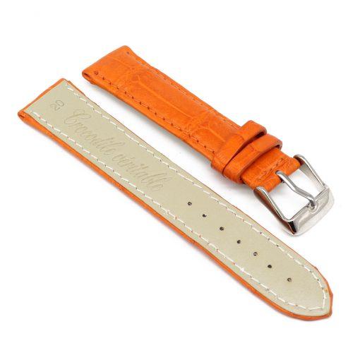bracelet montre crocodile alligator tangerine 2