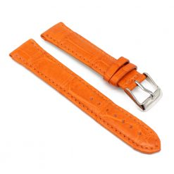 bracelet montre crocodile alligator tangerine