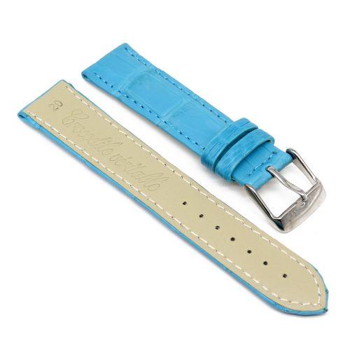 bracelet montre crocodile alligator turquoise 2