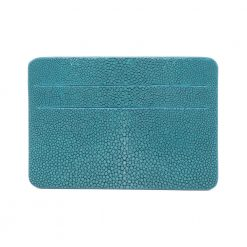 porte cartes galuchat mdg turquoise