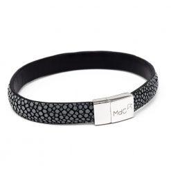 bracelet bande 10mm galuchat gris anthracite2