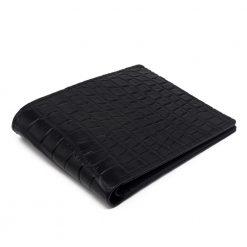 portefeuille crocodile veritable noir mdg serie limitee