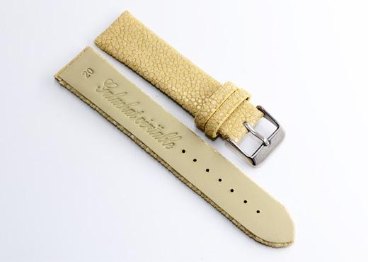 bracelet montre galuchat natural 2