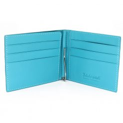 portefeuille clip galuchat turquoise 3
