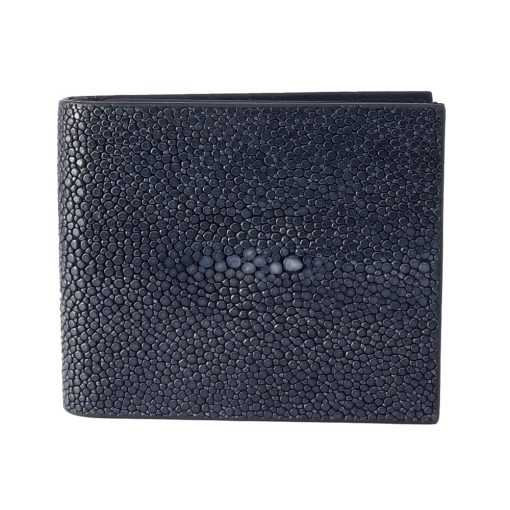 portefeuille clip galuchat navy 1